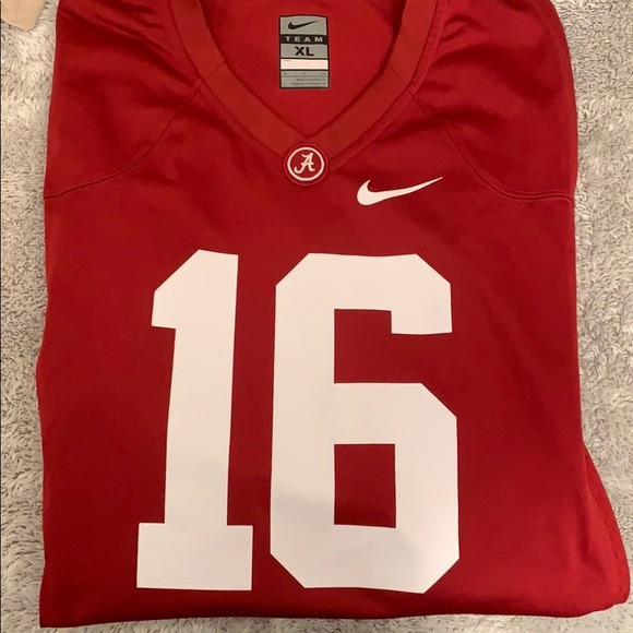 promo code 4437f bd1d6 Alabama crimson red authentic football jersey